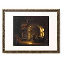 レンブラント・ファン・レイン Rembrandt Harmenszoon van Rijn 「Philosoph in seinem Studio mit einem aufgeschlagenen Buch.」 額装アート作品