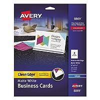 Inkjet Matte Business Cards, 2 x 3 1/2, White, 8/Sheet, 160/Pack [並行輸入品]