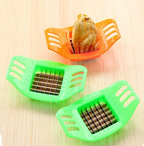 Lorny(TM) ホットステンレス鋼の野菜ポテトスライサーカッターチップスチョッパーポテト切り装置野菜ツールフルーツツールC2