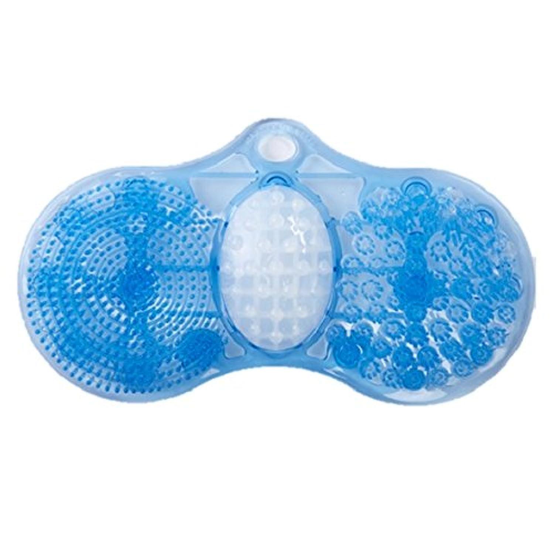 足裏洗ってすっきりマット フットブラシ 足洗いマット フットケア 足裏 角質 洗浄 風呂 浴室 マッサージ