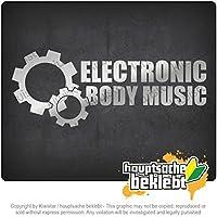 電子ボディミュージック - EBMギア Electronic Body Music - EBM gear 20cm x 8cm 15色 - ネオン+クロム! ステッカービニールオートバイ