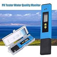 LCDデジタルPHメーター0-14PH水族館プール水質モニター用ペンテスター(カラー:ブルー)(サイズ:320mAh)