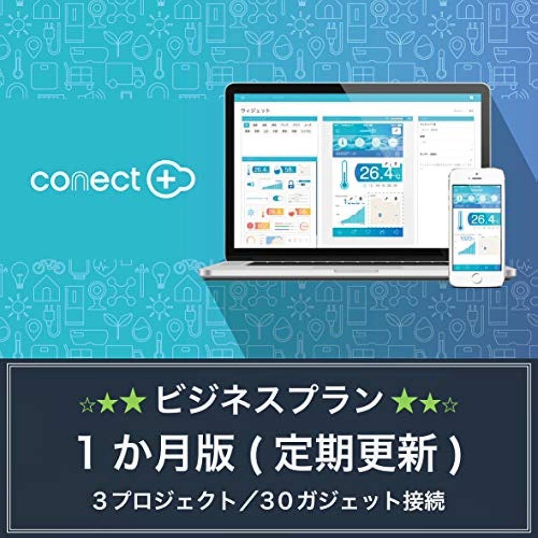 バー動揺させる接辞conect+ BUSINESS PLAN | 1ヶ月プラン | 3プロジェクト/30ガジェット接続 | サブスクリプション(定期更新)