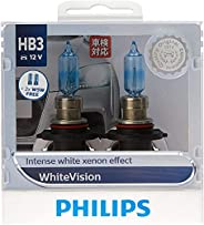 Philips White Vision HB3 12V globes - twin display pack
