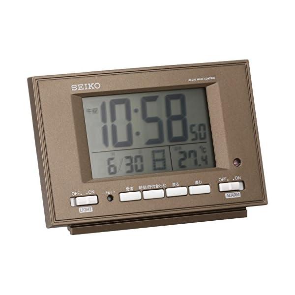 セイコー クロック 目覚まし時計 自動点灯 電波...の商品画像