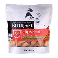 Nutri-Vet Hip & Joint Peanut Butter Crunchy Wafers Biscuits for Large Dogs 6lb