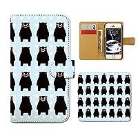 (ティアラ) Tiara Galaxy S6 edge 404SC スマホケース 手帳型 ゆるキャラ 手帳ケース カバーくまモン 熊本 クマもん くまもん E0046010081205
