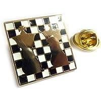 Chess Ajedrez King Queen Checkerboard Jacket Hat Vest Tie Lapel Pin