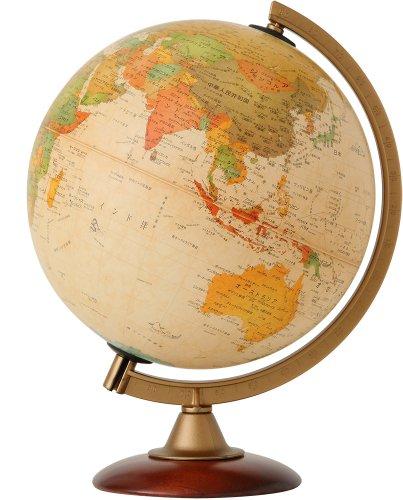 RoomClip商品情報 - 地球儀  球径25cmセピア地図(日本語版)/木製台座タイプ