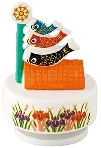 五月人形/端午/節句/こいのぼり/兜 置物 五月オルゴール鯉のぼり