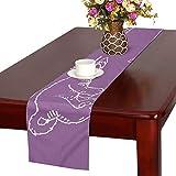 GGSXD テーブルランナー 親しい 紫色猫 クロス 食卓カバー 麻綿製 欧米 おしゃれ 16 Inch X 72 Inch (40cm X 182cm) キッチン ダイニング ホーム デコレーション モダン リビング 洗える