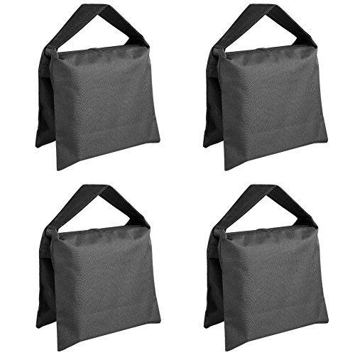 NEEWER サンドバッグ 写真撮影スタジオ ビデオステージフィルムサンドバッグ ブラック 4個セット