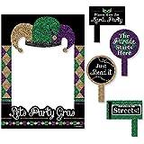 Bigドットの幸せのMardi Gras – Masqueradeパーティー写真ブース画像フレーム& Props – 頑丈な素材にプリント