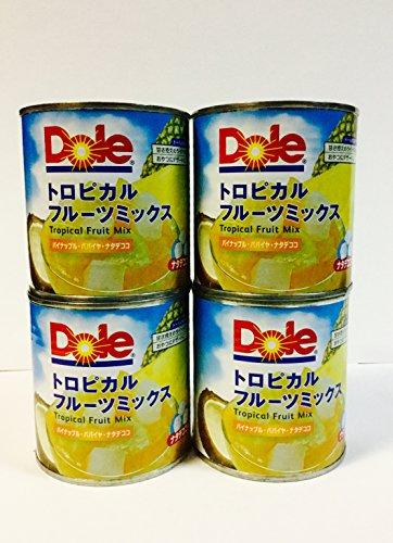 Dole トロピカルフルーツミックス(パイナップル・パパイヤ・ナタデココ) 430g×4缶セット