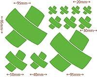 カッティングステッカー 絆創膏 バンドエイド・2 約180mm×約150mm ライム 黄緑