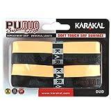 Karakal テニスラケット 交換用グリップ デュオ スーパーPU 2個パック オレンジ/ブラック