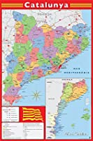 Map - Catalan Map - Spanish Poster - 91.5x61cm