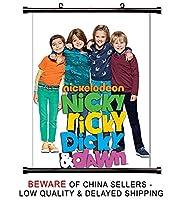 Nicky、Ricky、Dicky、and Dawn TV Showファブリック壁スクロールポスター( 16x 21)インチ