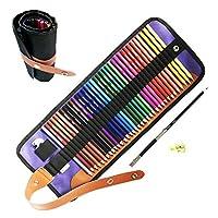 36色鉛筆セットwith Easer、鉛筆削り器、鉛筆エクステンダーとキャンバスバッグ、図面鉛筆のスケッチ芸術、カラーリングブック、