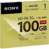 ソニー 日本製 ビデオ用BD-RE XL 書換型 片面3層100GB 2倍速 ホワイトワイドプリンタブル 単 BNE3VCPJ2