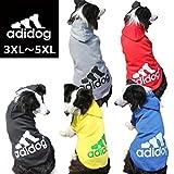 中型犬用【adidog】【アディドッグ】犬用 パーカー 犬服 ドッグウェア  サイズ 3XL / 4XL / 5XL 5カラー 4XL,ブルー