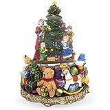 BestPysanky 子供用 装飾用 クリスマスツリー 大型 ミュージカルスノードーム