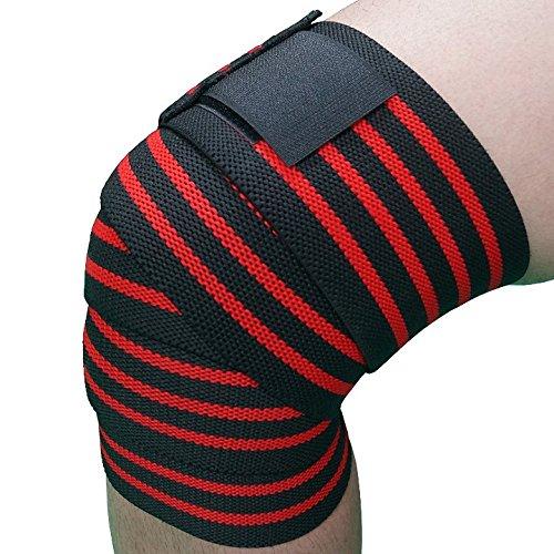 ニーストラップ ニーラップ ベルクロタイプ ウェイトリフティング & フィットネス & パワーリフティング 圧縮&弾性膝サポート