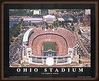 ポスター マイク スミス オハイオスタジアム(改修後) -OSU(オハイオ州立大学)、コロンブス- 額装品 ウッドハイグレードフレーム(オーク)