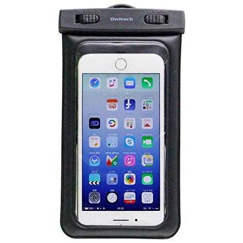 オウルテック iPhone 7/7Plusホームボタン対応 水に浮く 防水・防塵ケース ドライバッグ カメラ窓付き 海/釣り/お風呂 最高級保護レベルIP68取得 ネックストラップ付 ブラック