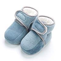 storeofbaby生まれたばかりの赤ちゃん男の子居心地の良い冬のブーティーズ幼児プレウォーカーコットンクリッピングシューズグリーン