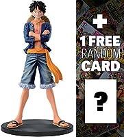 """ルフィ(青シャツ) : ~ 6.7"""" One Piece DXF Jeans Freak + 1Free official One Piece Tradingカードバンドル( 360288)"""