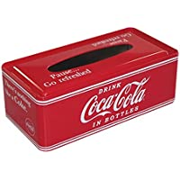 コカコーラ ティッシュカバー 赤 9×26×13cm Coca-Cola ティッシュケース PJ-TC01