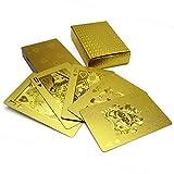 PLAYING CARDS トランプ 金のトランプ 黒のトランプ 水洗い可【ゴールド】