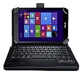 IVSO オリジナルASUS VivoTab 8 M81C (2014 Version) 用(7-8インチのタブレットも適用) PUレザーケース マグネット着脱可能 一体型Blue..