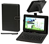 Navitech Android用日本版キーボード手帳ケース Sharp Aquos Pad SH-08  / Acer Iconia One 7 / HP Slate 7 / Samsung Galaxy Tab 4 / Huawei MediaPad M1 / Asus Transformer Pad TF300 / Arrows F02-F (Sharp Aquos Pad SH-08)