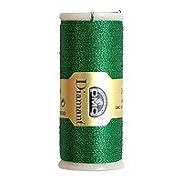 DMC ディアマント メタリック刺しゅう糸 35m巻 グリーン DMC380-D699
