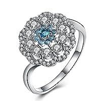 Rockyu ブランド ジュエリー リング プラチナ カラー ルビー 18 指輪 ファッション