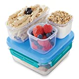 Rubbermaid LunchBlox Leak-Proof Entree Lunch Container Set, Small, Blue 2000664