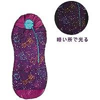 AceCamp 寝袋 シュラフ マミー型 子供用 蓄光 暗い所で光る -1℃ コンパクト 軽量 簡単 アウトドア こども キャンプ 防災 避難 収納ケース付き
