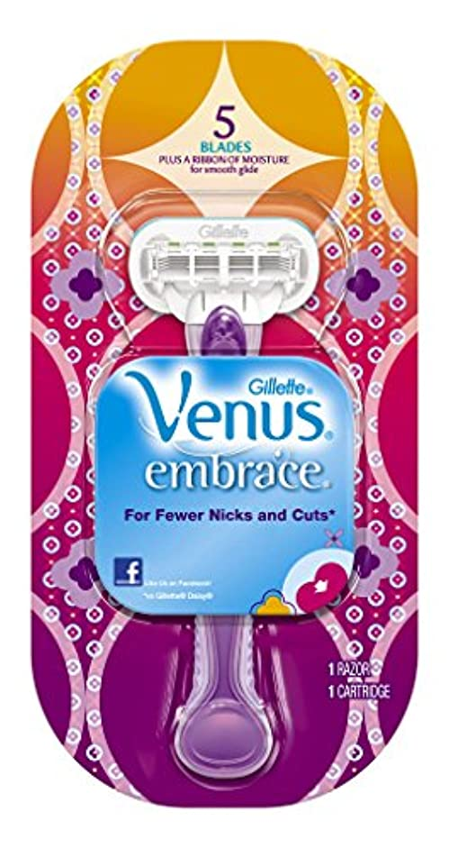 機知に富んだ後退する規範Venus ジレット女性のカミソリ、抱擁(包装は変更になる場合があります)