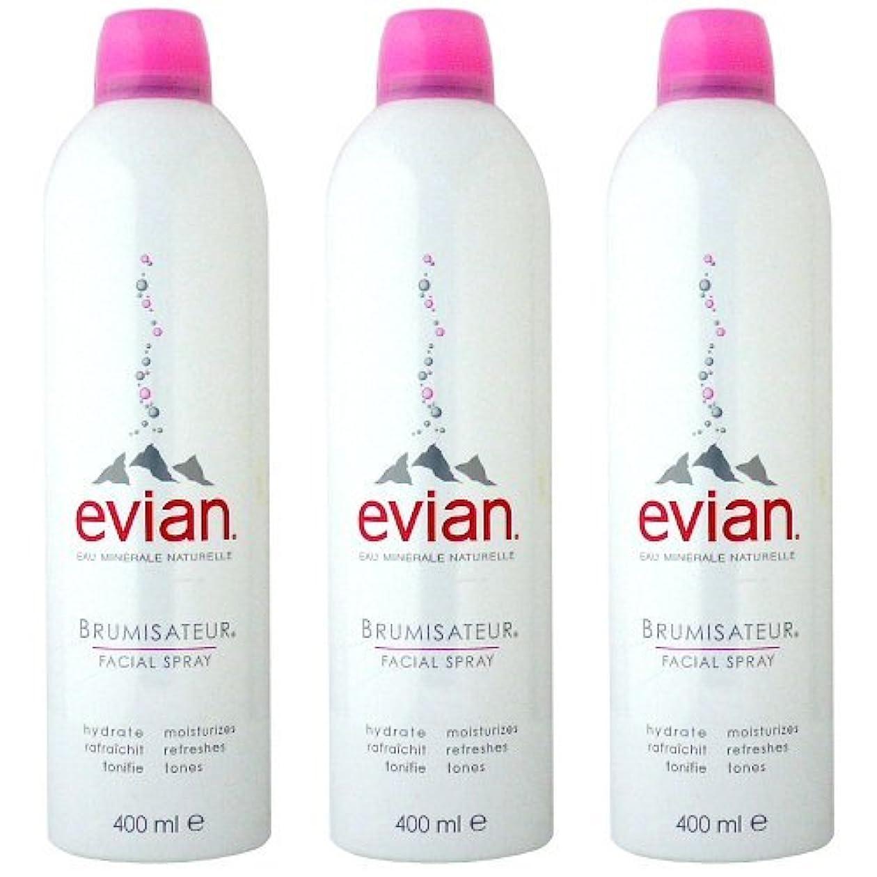 シーサイドシリーズ巨大なエビアン(evian) ブルミザトワール (化粧水) 400ml×3[並行輸入品]