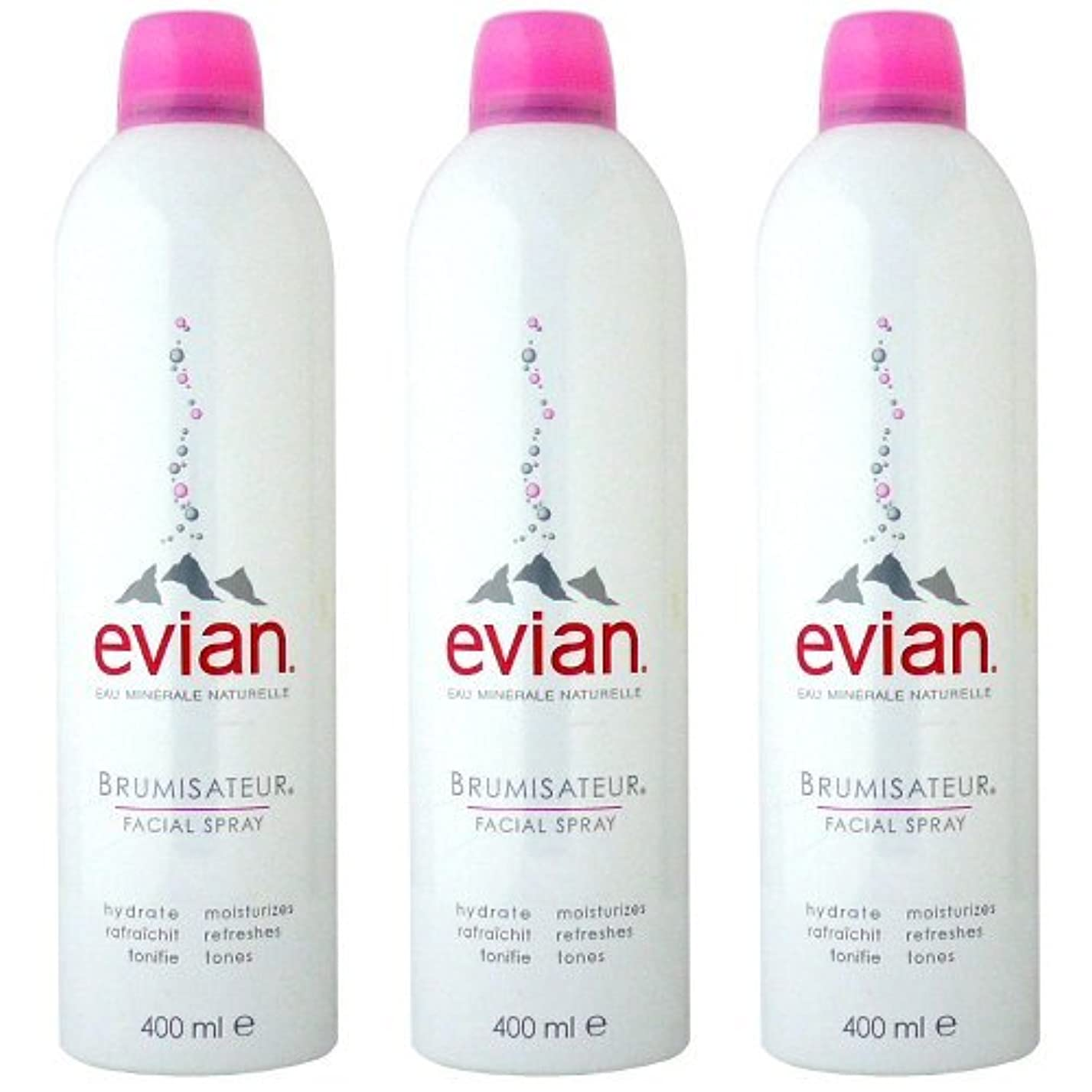 ペルーコンクリート復活するエビアン(evian) ブルミザトワール (化粧水) 400ml×3[並行輸入品]