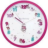 サンリオ 壁掛け時計 アイコンウォールクロック アナログ表示 連続秒針 マイメロディ 176187 (2015-09-30)