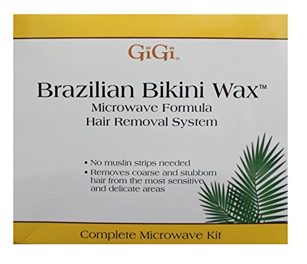 険しい足首除外するGiGi Brazilian Bikini Wax Microwave Kit