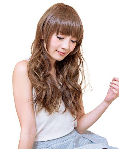 Angelique(アンジェリーク) エクステンション サイドあり前髪ウィッグ シャギー入り ぱっつん前髪も簡単 アッシュゴールド