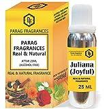 50/100/200/500パック内のParagフレグランス25ミリリットルファンシー空き瓶とジュリアナ(ジョイフル)アター(アルコールフリー、ロングラスティング、自然アター)も利用可能