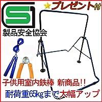 購入特典なわとびハンドグリップ付き 福発メタル 子供用室内鉄棒 スーパー鉄棒 65 ブルー FM-1544