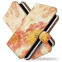 【KEIO】Xperia Z5 Compact SO-02H 手帳型 ケース カバー 牡丹 はながら 花模様 ぼたん SO02Hケース SO02Hカバー エクスペリア コンパクト 手帳型ケース 手帳型カバー 綺麗 花柄 フラワー [花 花びら/t0396]
