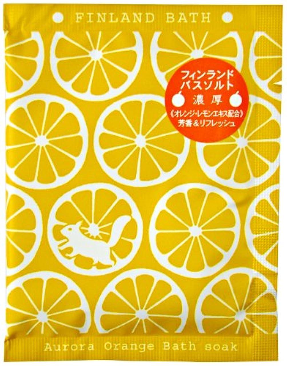 通信網こする高潔なフィンランドバスソーク (オーロラオレンジ)