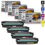AZ 互換トナーカートリッジ HP 650Aセット交換用 - 1 ブラック / 1 シアン / 1 マゼンタ / 1 イエロー